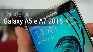 Hands-on: Galaxy A5 e A7 2016 - Tudocelular.com