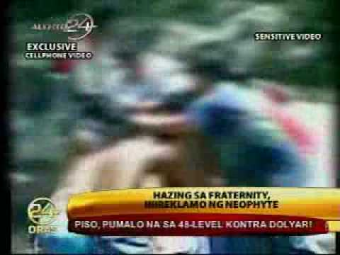 Fraternity neophyte complains of hazing(Is It Tau Gamma Phi) Video