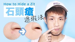 石頭暗瘡遮瑕法 How to Hide a Big Zit !!