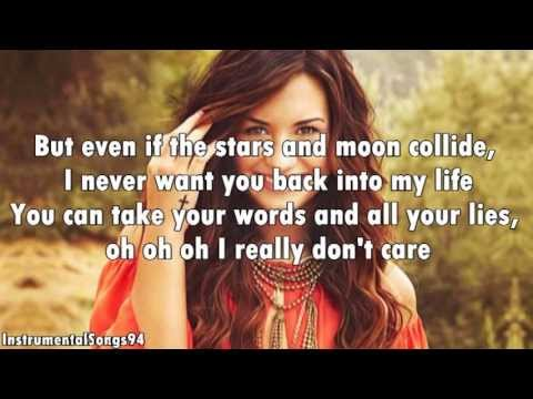 Demi Lovato ft. Cher Lloyd - Really Don&#039;t Care Instrumental / Karaoke with Lyrics