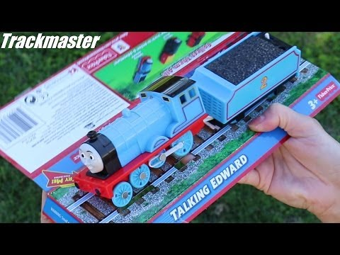 Thomas & Friends: Unboxing Talking Edward Trackmaster Toy Train video