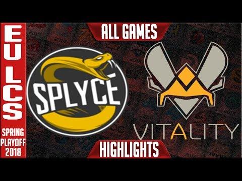 VIT vs SPY Highlights ALL GAMES | EU LCS 3rd Place Playoffs Spring 2018 Vitality vs Splyce Highlight