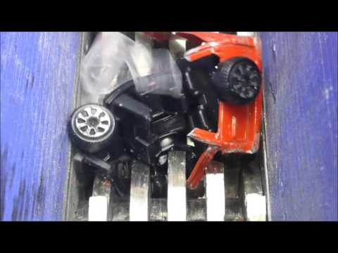 Shredding metal toy cars madness