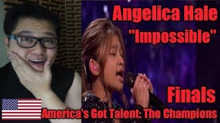 (Filipino Reaction) Angelica Hale singing Impossible l Finals l America's Got Talent: The Champions