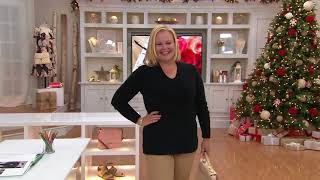 Isaac Mizrahi Live! 2-Ply Cashmere V-Neck Pullover Sweater on QVC