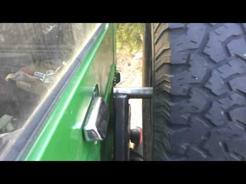 FJ40 swing out tire/ gas can carrier project Part 7