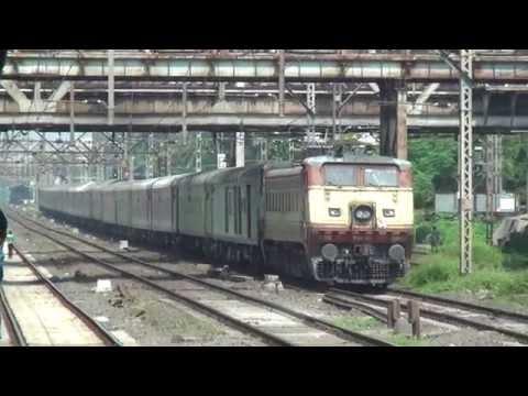 Huge & Handsome 5000hp Wap-4 Accelerating With 22110 Nzm Ltt Ac Superfast Express At Kopar video