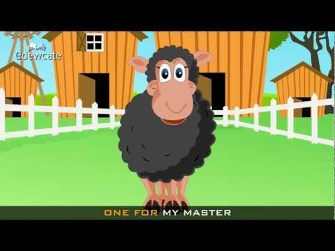 Edewcate english rhymes – Baa Baa black sheep nursery rhyme with lyrics