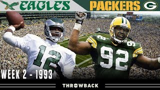 Reggie White's 1st Game Against Philly! (Eagles vs. Packers 1993, Week 2)