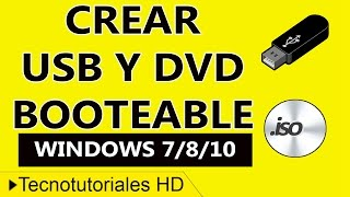 Como Crear Una USB y DVD Booteable de Windows 7/8/10 Fácil y Rápido 2016