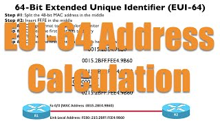 EUI-64 Address Calculation - CCNA