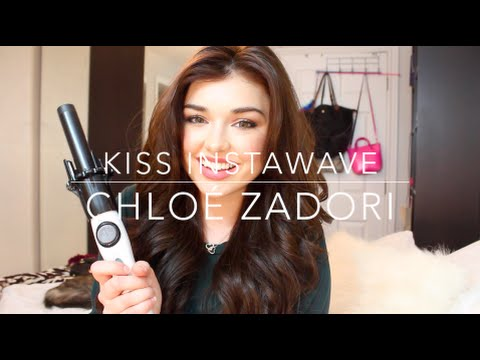 Review and Tutorial: Kiss InstaWave Automatic  Curling Iron   Chloé Zadori
