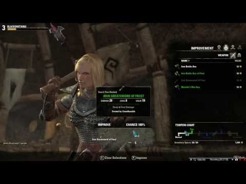 Elder Scrolls Online Smithing Guide / Tutorial Improving Motif Styles Part 3
