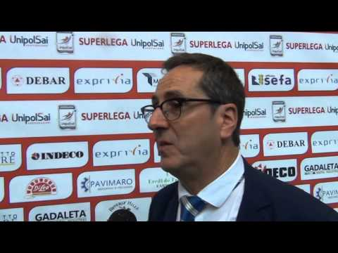 26-10-2014: Vincenzo Di Pinto dopo la vittoria di Molfetta su Altotevere per 3-1