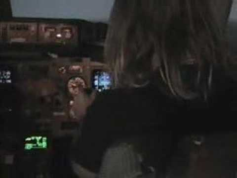 KK Downing's Boeing 757 flight