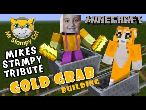 Mikes Stampy Long Head Tribute: Recreating GOLD GRAB Game w Scare Cam Minecraft PC P.E.