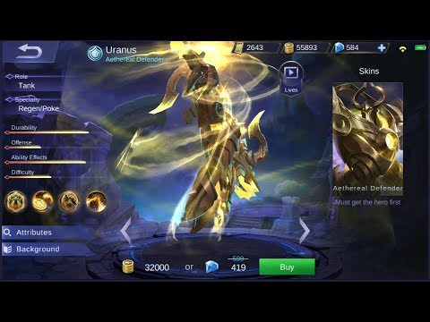 NEW HERO URANUS LIVE GAMEPLAY | MOBILE LEGENDS