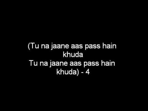 Aas Pass Hai Khuda Lyrics (hd) video