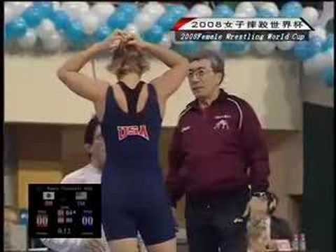 3X Olympic Champ & 8X World Champ Saori Yoshida(JAP) (RED) v Olympian Marcie Van Dusen(USA)(BLUE)
