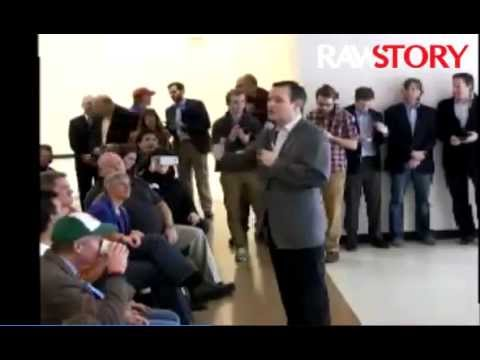 Ted Cruz frightens little girl by shouting 'Your world is on fire!'