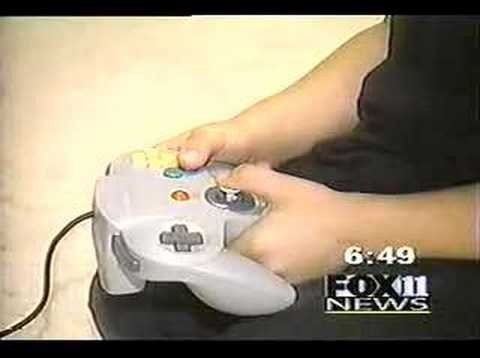 "In this Fox News 11 ( Los Angeles ) clip... September 29, 1996, Nintendo releases the Silicon Graphics collaborated cartridge game console ""Nintendo 64"" to North America. In particular,..."
