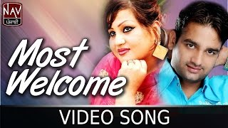 Most Welcome | Jashandeep & Parveen Bharta | Superhit Punjabi Song | Official Video | Nav Punjabi