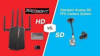 "Amimon Connect Prosight HD ""HP Mode"" vs Standard Analog SD FPV Camera System"