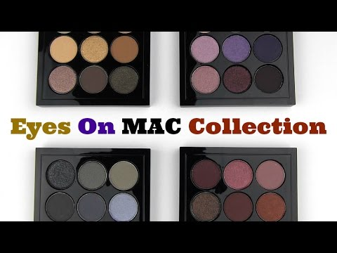 MAC Eyes On MAC Collection: Live Swatches & Review
