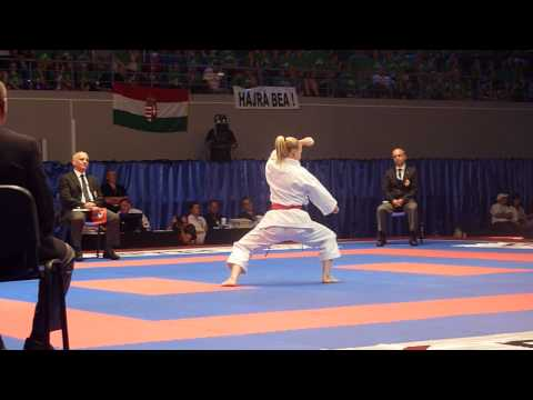 J.Bleul of Germany. Kata Individual Female Bronze Match. 48th European Karate Championships