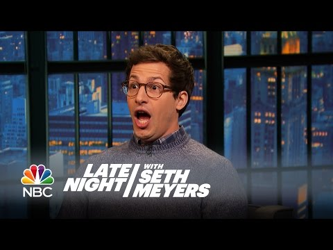 Andy Samberg's Nightmare Camping Trip - Late Night with Seth Meyers