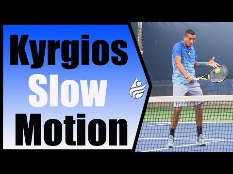 Nick Kyrgios Slow Motion Forehand, 1st Serve & Volleys 240FPS Cincinnati 2014