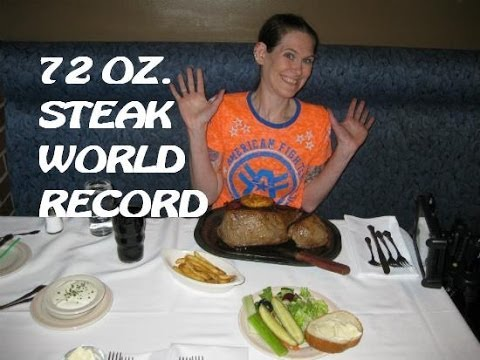World Record Molly Schuyler Devours 72 Oz. Steak video