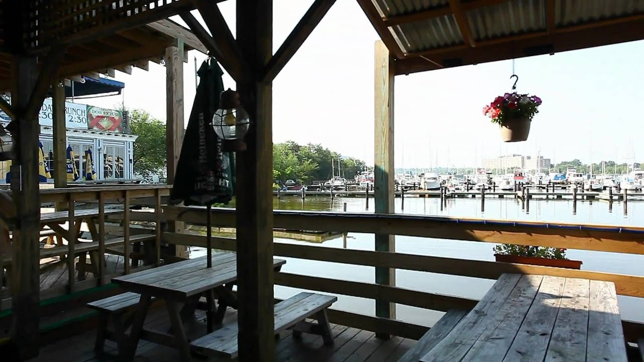 The main deck at nick 39 s fish house in baltimore maryland for Nick s fish house baltimore md
