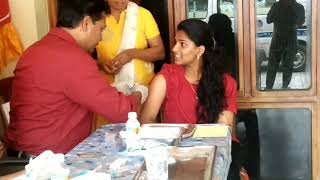 Cervical Cancer Preventive Vaccination prg organized by Roots Health Foundation.