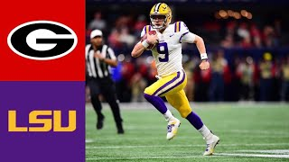 #4 Georgia vs #2 LSU First Half Highlights | College Football Highlights