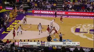 Alabama vs LSU Basketball Highlights 1-14-17