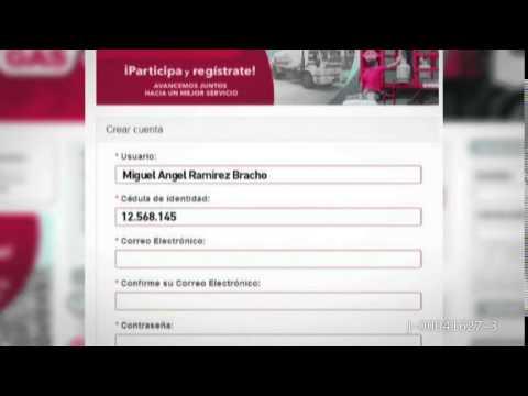REGISTRO DE USUSARIOS PDVSA GAS COMUNAL