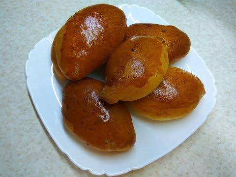Пирожки с вишней и абрикосом  печеные в духовке