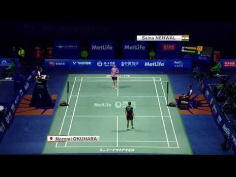 Thaihot China Open 2015 | Badminton QF M5-WS | Saina Nehwal vs Nozomi Okuhara