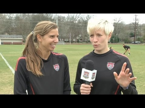 Studio 90 hears from WNT midfielders Tobin Heath and Megan Rapinoe talk who detail their attempts to learn French while playing abroad. More info: http://www...