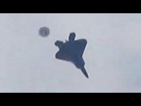 UFO FLIES OVER F-22 RAPTOR JET MARCH 2013 SIGHTING