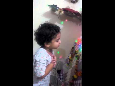 Muje maf karna om sai ram ..sung by maahi sadhwani 2 year old...