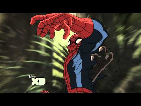 Ultimate Spider-man tranform into Man-spider! HD