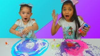No Bowl No Spoon Slime Challenge with Switch-Up!!!