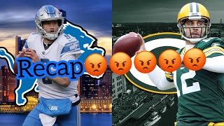 The Green Bay Referees beat the Detroit Lions 😡 packers vs lions recap