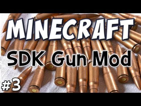 Minecraft - SDK Guns Mod Spotlight - (Technic Pack Part 3) Music Videos