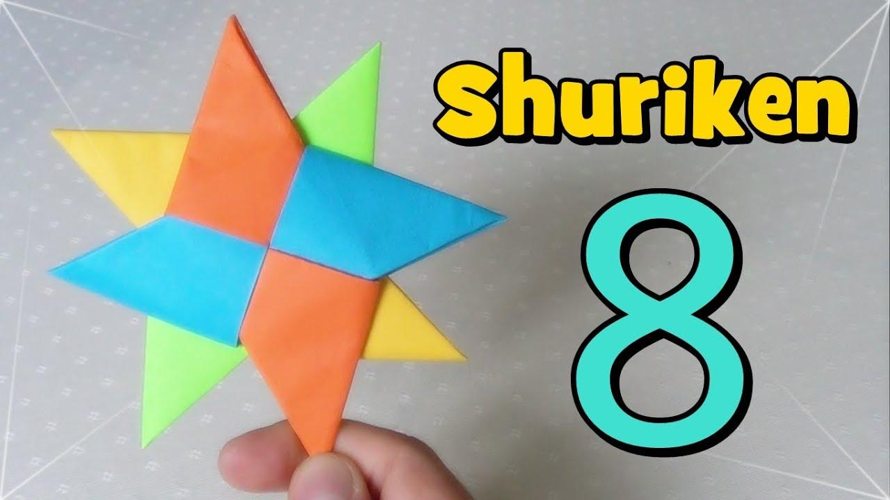 Shuriken origami estrella ninja de papel youtube - Origami de una estrella ...