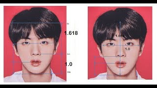 BTS Jin?s face is One of The Most Symmetric, Proportional, & Perfect Asian male Faces