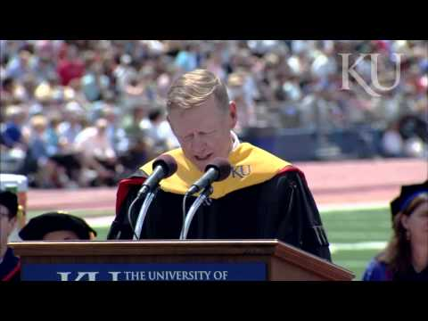 Alan Mulally at KU Commencement 2012
