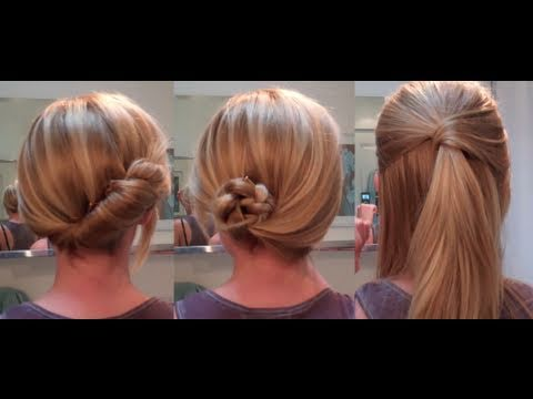 easy hairstyles for a date / work  hairstyles for long